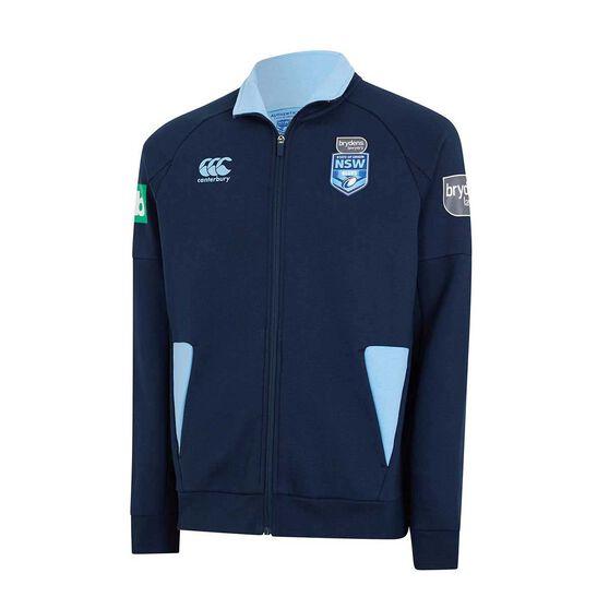 NSW State of Origin Mens Zip Thru Fleece, Blue, rebel_hi-res