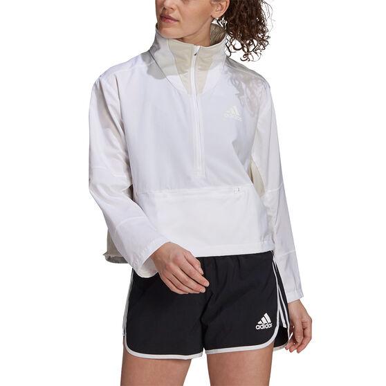 adidas Womens Primeblue Adapt Running Jacket, White, rebel_hi-res
