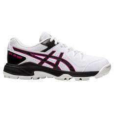 Asics GEL Peake Womens Rubber Cricket Shoes White/Black US 6, White/Black, rebel_hi-res