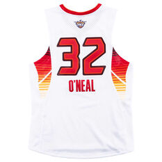 ... NBA All-Stars West 2009 Shaquille O Neal Swingman Jersey White   Red S 97eea12883