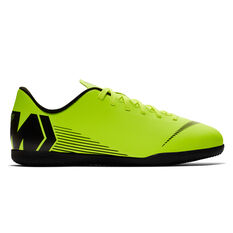 Nike Mercurial Vaporx XII Club Junior Indoor Soccer Shoes Volt / Black US 1, Volt / Black, rebel_hi-res