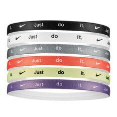 Nike Womens Printed Headbands 6 Pack, , rebel_hi-res