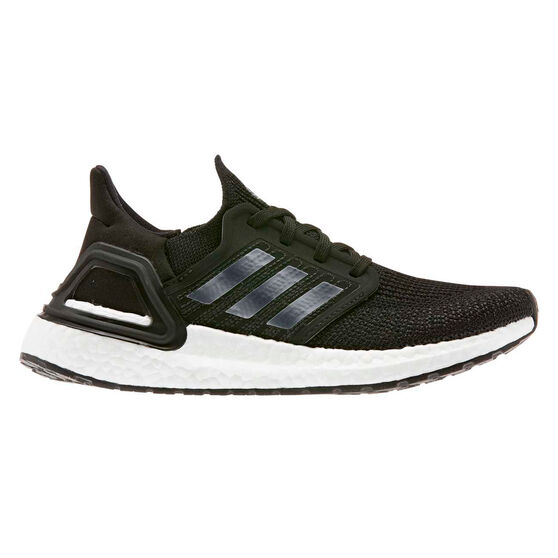 adidas Ultraboost 20 Kids Running Shoes, Black / White, rebel_hi-res