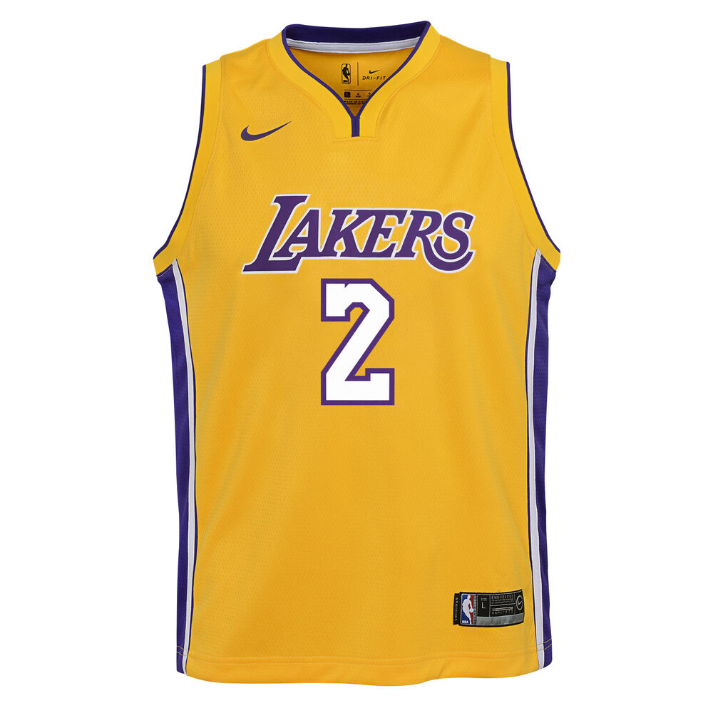 check out 52c11 ebed0 Nike Los Angeles Lakers Lonzo Ball Icon 2019 Swingman Jersey