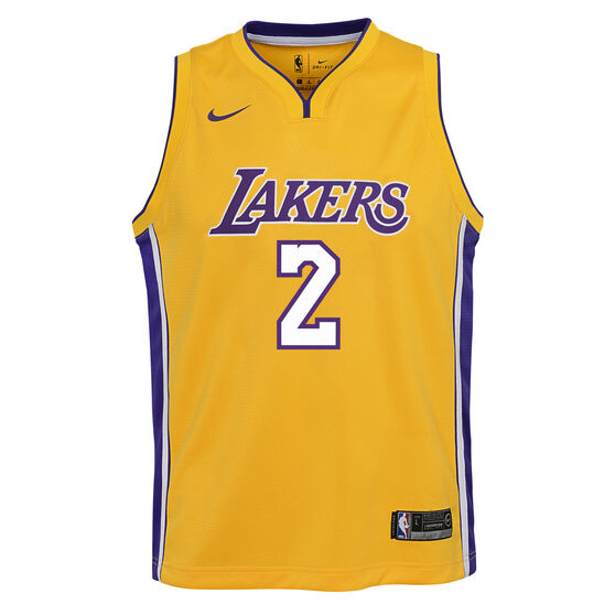 official photos 3379c 804b8 Nike Los Angeles Lakers Lonzo Ball Icon 2019 Kids Swingman Jersey