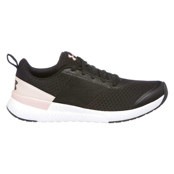 Under Armour Aura Womens Training Shoes, Black / Pink, rebel_hi-res