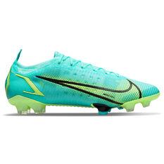 Nike Mercurial Vapor 14 Elite Football Boots Blue/Lime US Mens 5 / Womens 6.5, Blue/Lime, rebel_hi-res
