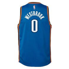 Nike Oklahoma City Thunder Russell Westbrook 2019 Kids Swingman Jersey Signal Blue S, Signal Blue, rebel_hi-res
