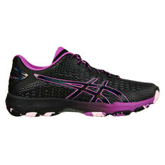 Asics GEL Netburner Professional 2 Womens Netball Shoes Black US 7, Black, rebel_hi-res