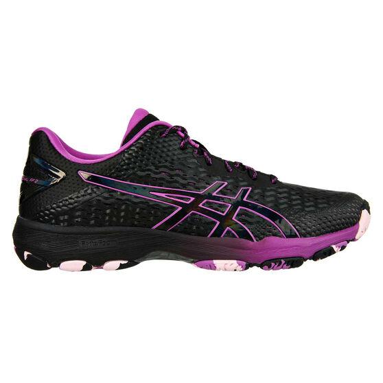 Asics GEL Netburner Professional 2 Womens Netball Shoes, Black, rebel_hi-res