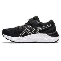 Asics Pre Excite 8 Kids Running Shoes Black/White US 11, Black/White, rebel_hi-res