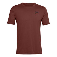 Under Armour Mens Sportstyle Left Chest Tee Red XS, Red, rebel_hi-res