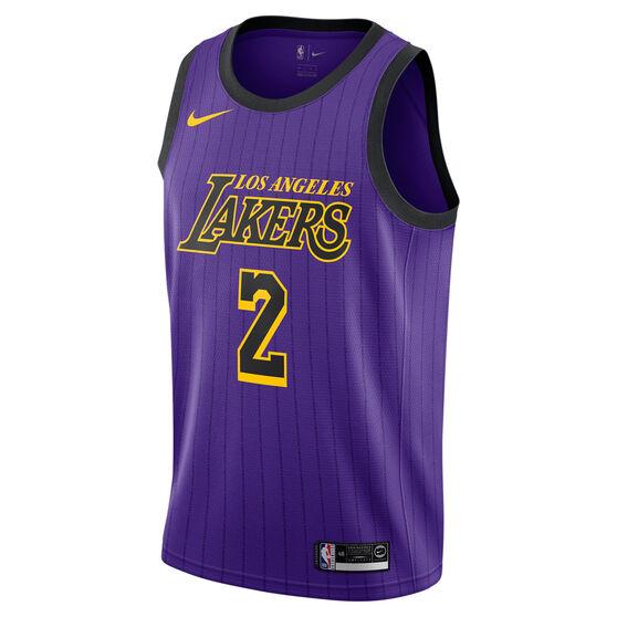 Nike Los Angeles Lakers Lonzo Ball 2019 Mens City Jersey Purple L ... ab5a6ae09