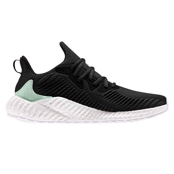 adidas Alphaboost Parley Womens Running Shoes, Black / Green, rebel_hi-res