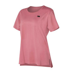 Running Bare Womens The Perfect Heritage Crew Tee Pink 8, Pink, rebel_hi-res