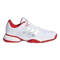 adidas Barricade 2018 Kids Tennis Shoes Black / White US 1, Black / White, rebel_hi-res
