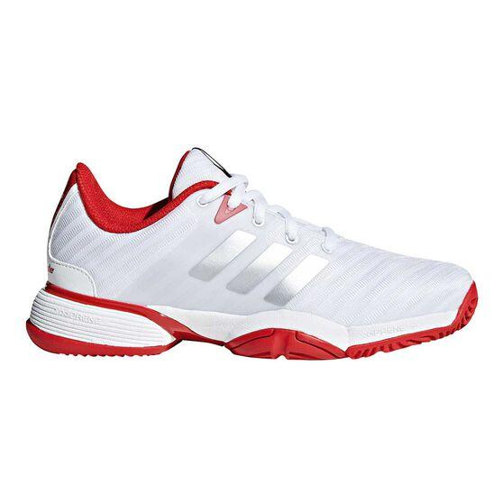 adidas Barricade 2018 Kids Tennis Shoes Black   White US 2  7006686ad2b8