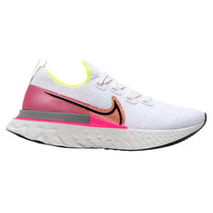 Nike React Infinity Run Flyknit Womens Running Shoes White / Black US 6, White / Black, rebel_hi-res