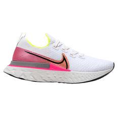 Nike React Infinity Run Flyknit Womens Running Shoes White / Black US 6, White / Black, rebel_hi-res