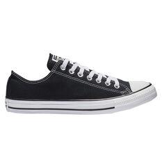 Converse Chuck Taylor All Star Low Casual Shoes Black US Mens 7 / Womens 9, Black, rebel_hi-res