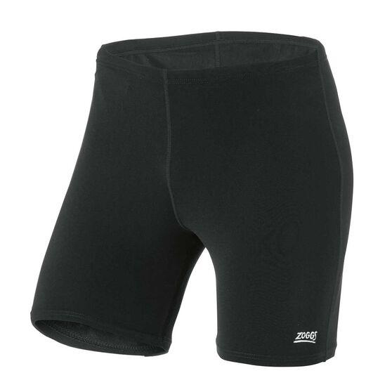 Zoggs Mens Cleveland Mid Jammer Swim Shorts, Black, rebel_hi-res