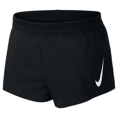 Nike Mens AeroSwift 2 Inch Running Shorts Black S, Black, rebel_hi-res
