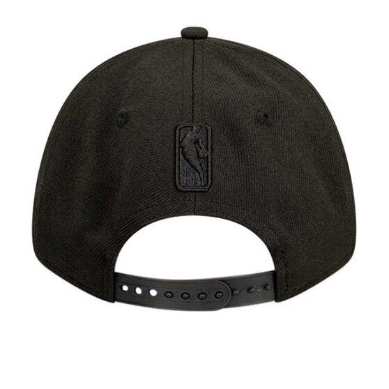 LA Lakers New Era Black on Black 9FORTY Snapback, , rebel_hi-res