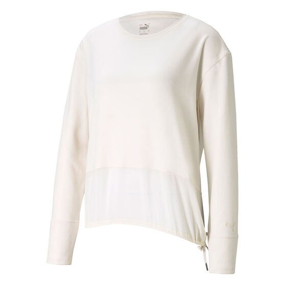 Puma Womens Forever Luxe Cover Up, White, rebel_hi-res