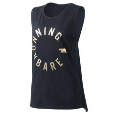 Running Bare Womens Easy Rider Muscle Tank Black 8, Black, rebel_hi-res
