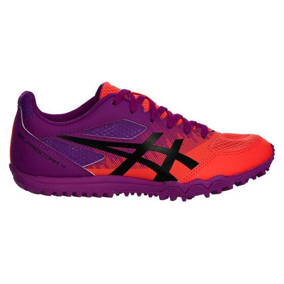 Asics GEL Firestorm 4 Kids Track Shoes, Purple / Orange, rebel_hi-res