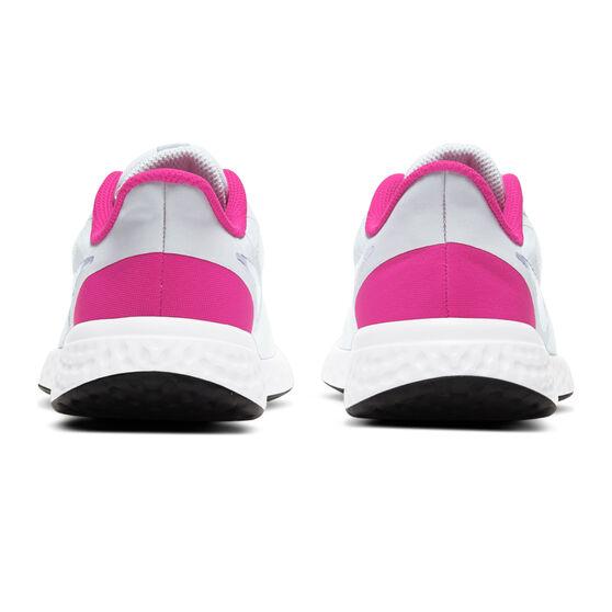 Nike Revolution 5 Kids Running Shoes, Grey/Purple, rebel_hi-res