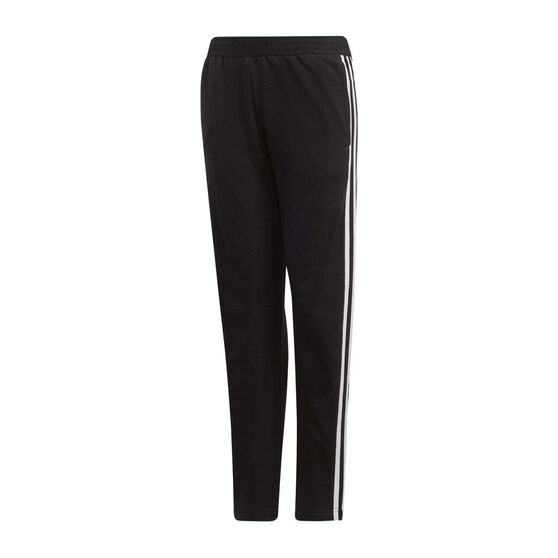 adidas Girls ID 3 Stripes Pants Black / White 8, , rebel_hi-res
