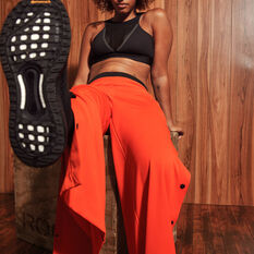 adidas Karlie Kloss Womens Flared Pants Orange XS, Orange, rebel_hi-res
