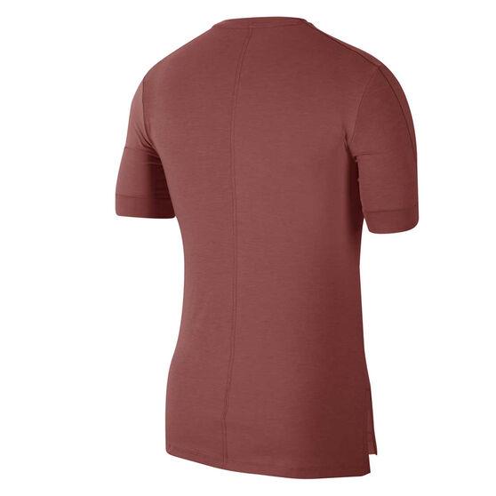 Nike Mens Dri-FIT Yoga Tee, Red, rebel_hi-res