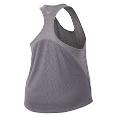 Nike Womens Miler Hyper Femme Running Tank Plus Grey XL, Grey, rebel_hi-res