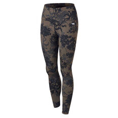 Running Bare Womens Ab Waisted Fight Club Tights Print 8, Print, rebel_hi-res