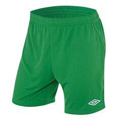 Umbro League Mens Football Shorts Green S Adults, Green, rebel_hi-res