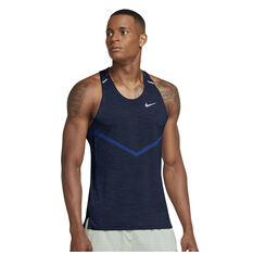 Nike Mens Dri-FIT ADV Techknit Ultra Running Tank Blue 3XL, Blue, rebel_hi-res