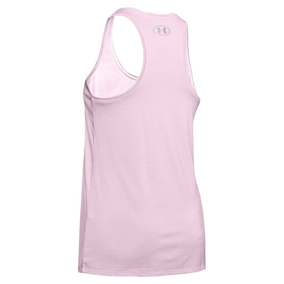 Under Armour Womens Tech Twist Tank, Pink, rebel_hi-res