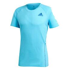 adidas Mens Runner Tee Blue S, Blue, rebel_hi-res