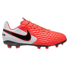 Nike Tiempo Legend VIII Club Kids Football Boots Black / Red US 10, Black / Red, rebel_hi-res