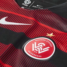 Western Sydney Wanderers 2018 / 19 Kids Home Jersey Black / Red XS, Black / Red, rebel_hi-res