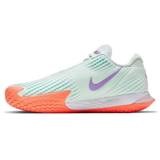 Nike Air Zoom Vapor Cage 4 RAFA Mens Tennis Shoes, Green/White, rebel_hi-res