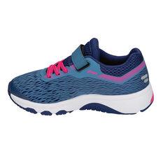 Asics GT 1000 7 Junior Girls Running Shoes Blue / Pink US 11, Blue / Pink, rebel_hi-res