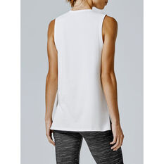 Running Bare Womens Easy Rider Muscle Tank, White, rebel_hi-res