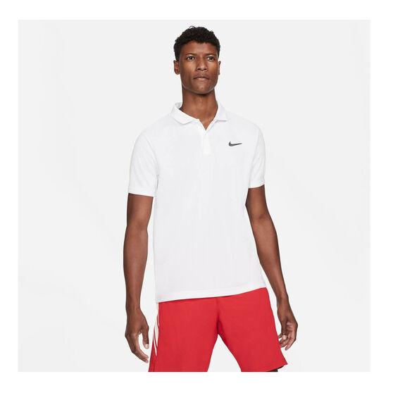 NikeCourt Dri-FIT Victory Men's Tennis Polo, White, rebel_hi-res