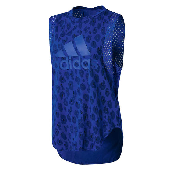 adidas Womens ID Muscle Tank, Blue, rebel_hi-res
