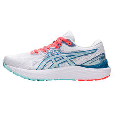 Asics GEL Cumulus 23 Celebration of Sport Womens Running Shoes White/Coral US 6, White/Coral, rebel_hi-res