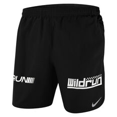 Nike Mens Challenger Wild Run Running Shorts Black S, Black, rebel_hi-res