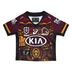 Brisbane Broncos 2021 Infant Indigenous Jersey Maroon 00, Maroon, rebel_hi-res